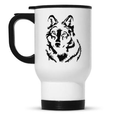 Кружка-термос Белый волк