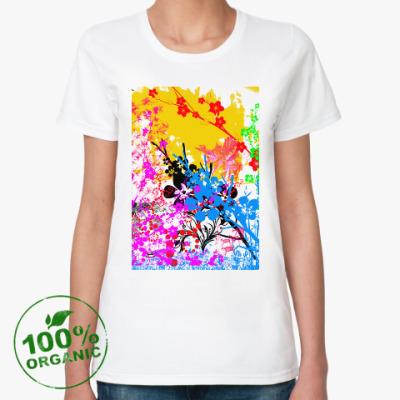 Женская футболка из органик-хлопка Цветущий сад