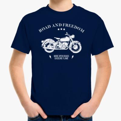 Детская футболка Король дорог (мотоцикл)