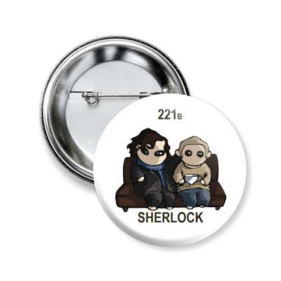 Значок 50мм Sherlock