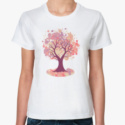 Классическая футболка Дерево-сердце