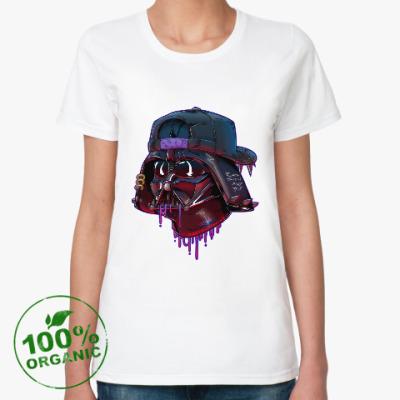 Женская футболка из органик-хлопка Дарт Вейдер Бомж