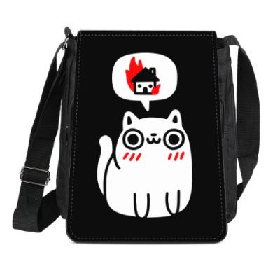Сумка-планшет Котик злой