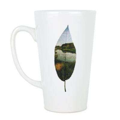 Чашка Латте Листовой пруд