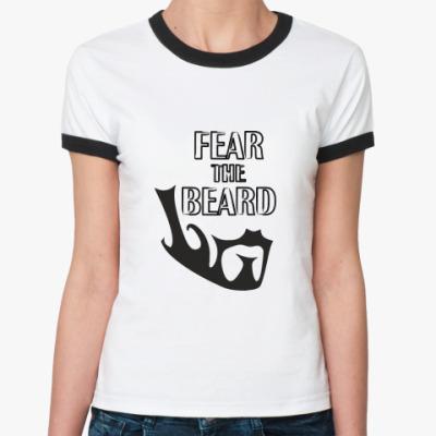 Женская футболка Ringer-T Борода Сенеки