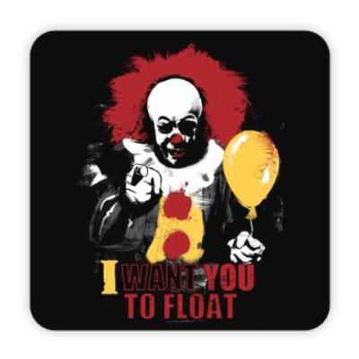 Костер (подставка под кружку) Clown It by Stephen King