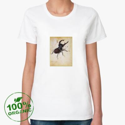 Женская футболка из органик-хлопка Жук Дюрера