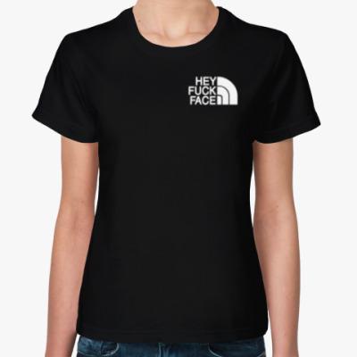 Женская футболка HeyFuckFace