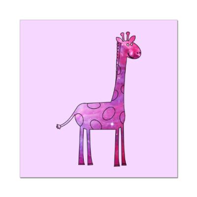Наклейка (стикер) Космический Жираф