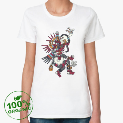 Женская футболка из органик-хлопка Кетцалькоатль