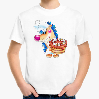 Детская футболка ЁЖИК С ТОРТОМ