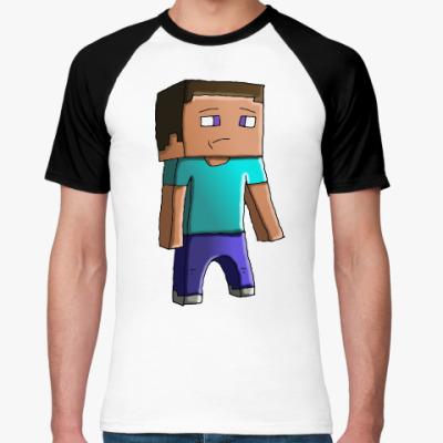 Футболка реглан Minecraft Steve