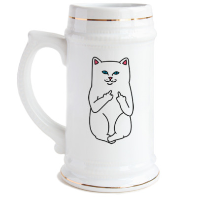 Пивная кружка Kitty with fuck
