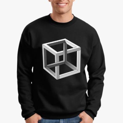 Свитшот Невозможный Куб 3D