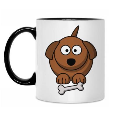 Кружка Собачка с косточкой