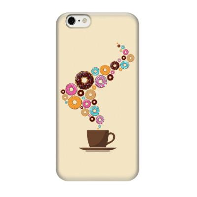 Чехол для iPhone 6/6s Кофе с пончиками