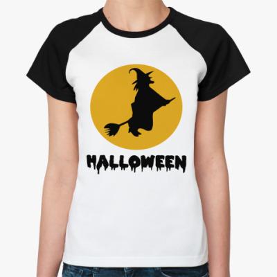 Женская футболка реглан Время ведьм Хэллоуин