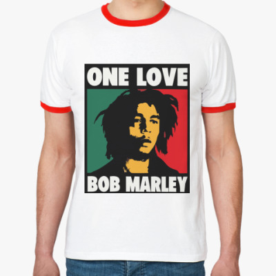 Футболка Ringer-T Боб Марли