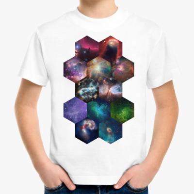 Детская футболка Космический гексагон