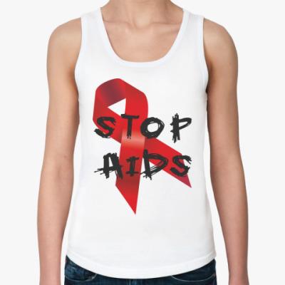Женская майка STOP AIDS
