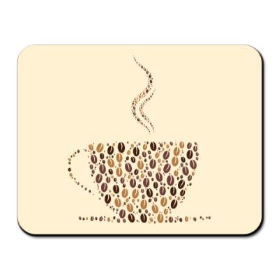 Коврик для мыши Кофе из кофейных зерен
