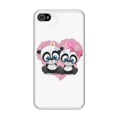 Чехол для iPhone 4/4s Маленькие панды