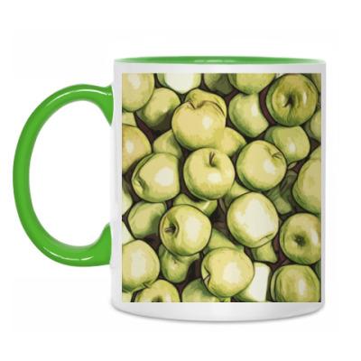 Кружка яблоки