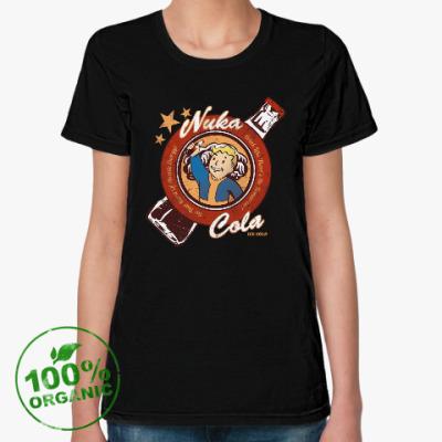 Женская футболка из органик-хлопка Fallout Nuka Cola Vault Boy