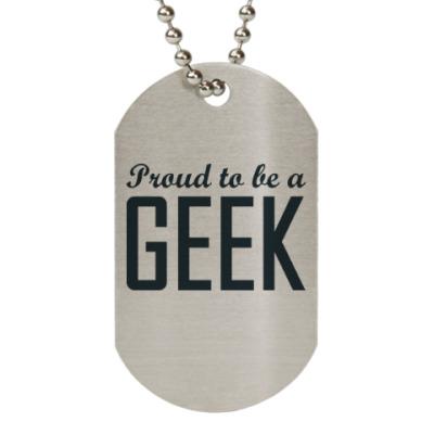 Жетон dog-tag Geek