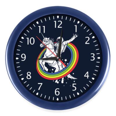 Настенные часы Космонавт на единороге
