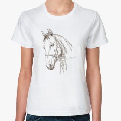 Классическая футболка Конь