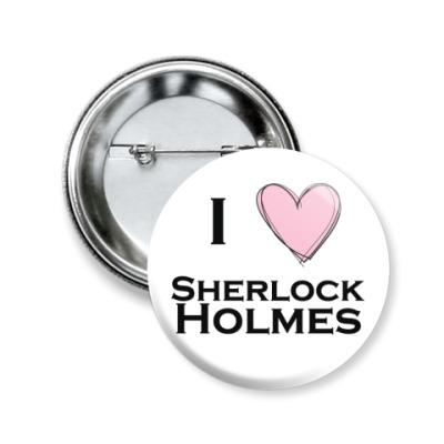 Значок 50мм  'Шерлок Холмс'