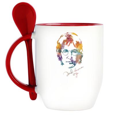 Кружка с ложкой The Beatles - John Lennon