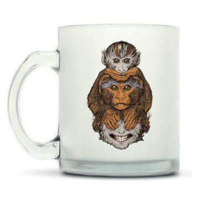 Кружка матовая Три обезьяны символ года