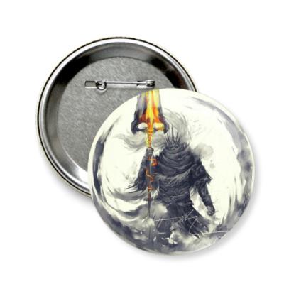 Значок 58мм Dark Souls III   Nameless King