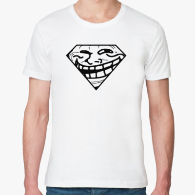 Футболка из органик-хлопка Trollface & Superman