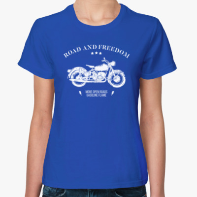 Женская футболка Король дорог (мотоцикл)