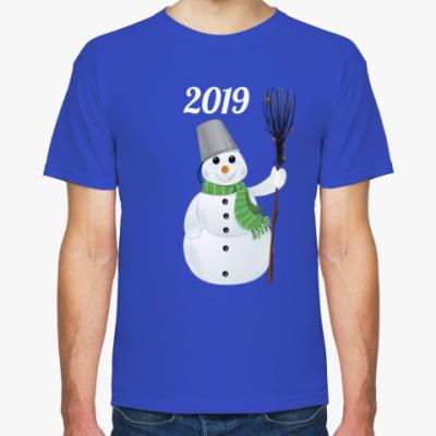Футболка Снеговик 2019