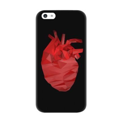 Чехол для iPhone 5c Сердце 3D
