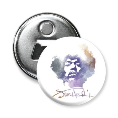 Магнит-открывашка  Jimi Hendrix - Джими Хендрикс