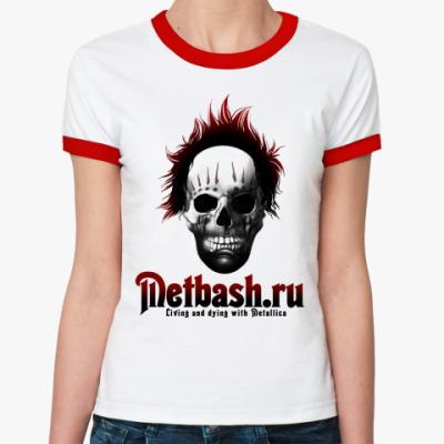 Женская футболка Ringer-T Crazy Clown For Ladies