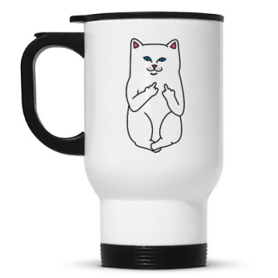Кружка-термос Kitty with fuck