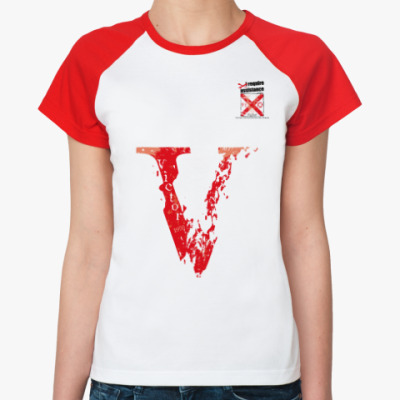 Женская футболка реглан Морской флаг «Victor»