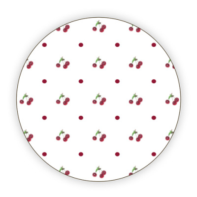 Костер (подставка под кружку) вишневый узор
