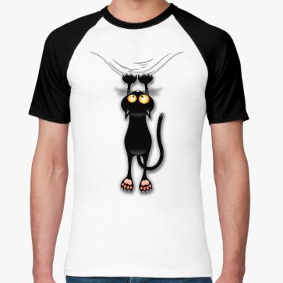 Футболка реглан Черная кошка