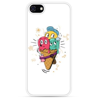 Чехол для iPhone Смешные шарики мороженного