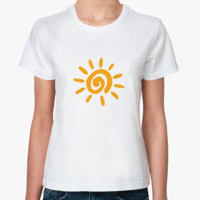 Классическая футболка оптимизм