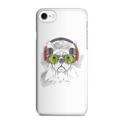 Чехол для iPhone 7/8 Собака в зеленых очках