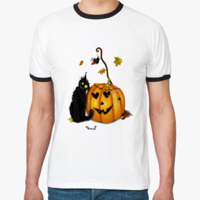 Футболка Ringer-T Happy Halloween