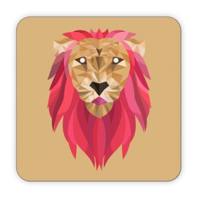 Костер (подставка под кружку) Лев / Lion
